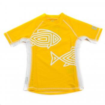 Футболка для пляжа Fiji (желтый)Одежда<br>Материал: <br>Верх: 80% полиамид 20% эластан<br>Описание: <br>Яркая летняя футболка надежно защитит от солнца! Футболка SunProof для детей с УФ-защитой 50+ оберегает ребенка от вредных ультрафиолетовых лучей по всей длине. Эластичный быстросохнущий материал подойдет и для плавания, и для игр на солнце.<br>Производитель: Reima (Финляндия)<br>Страна производства: Китай <br>Модель производится в размерах 92-140<br>Коллекция: Весна/Лето 2017<br>Температурный режим:  <br> от +20 градусов и выше; Размеры в наличии: 92, 98, 104, 110, 116, 122, 128, 134, 140, 146, 152, 158, 164.<br>