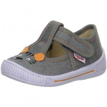 Сандалии текстильные (серый с тигром)Обувь<br>Материал<br>Верх: текстиль<br>Подкладка(внутренний материал): текстиль<br>Стелька: текстиль<br>Подошва: полиуретан<br>Описание<br>Яркие текстильные сандалии. Легкая и удобная обувь, подходящая как для помещений, так и для улицы.<br>Производитель: Superfit (Австрия)<br>Страна производства: Индия<br>Коллекция Весна/Лето 2017<br>Температурный режим<br>От +15 градусов и выше; Размеры в наличии: 20, 21, 22, 23, 24, 25, 26.<br>
