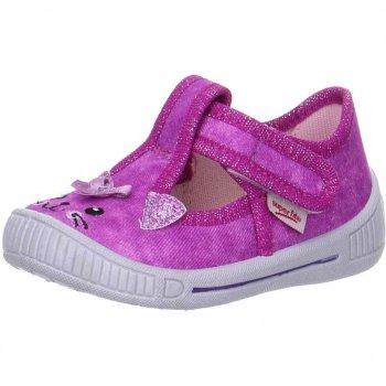 Сандалии текстильные (розовый с котенком)Обувь<br>Материал<br>Верх: текстиль<br>Подкладка(внутренний материал): текстиль<br>Стелька: текстиль<br>Подошва: полиуретан<br>Описание<br>Яркие текстильные сандалии. Легкая и удобная обувь, подходящая как для помещений, так и для улицы.<br>Производитель: Superfit (Австрия)<br>Страна производства: Индия<br>Коллекция Весна/Лето 2017<br>Температурный режим<br>От +15 градусов и выше; Размеры в наличии: 21, 22, 23, 24, 25, 26.<br>