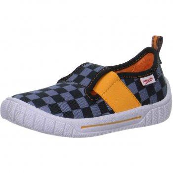 Тапочки текстильные (серый с принтом)Обувь<br>Материал<br>Верх: текстиль<br>Подкладка(внутренний материал): текстиль<br>Стелька: текстиль<br>Подошва: полиуретан<br>Описание<br>Яркие текстильные тапочки. Легкая и удобная обувь подходящая как для помещений, так и для улицы.<br>Производитель: Superfit (Австрия)<br>Страна производства: Индия<br>Коллекция Весна/Лето 2017<br>Температурный режим<br>От +15 градусов и выше; Размеры в наличии: 27, 28, 29, 30, 31, 32, 33, 34, 35, 36, 37, 38.<br>