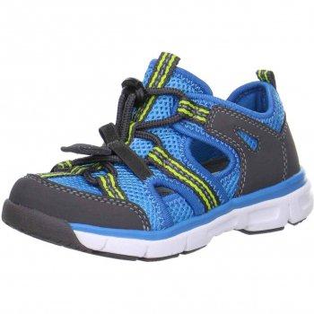 Кроссовки открытые (синий)Обувь<br>Кроссовки на шнуровке для мальчика. Закрытый мыс обеспечивает повышенную безопасность, а текстильная подкладка и съемная стелька обеспечивают максимальный комфорт. Подходит как для активных занятий спортом, так и для спокойных прогулок.<br> Производитель: Superfit (Австрия) <br> Страна производства: Индия <br> Коллекция Весна/Лето 2017<br>  <br> Верх: натуральная кожа/текстиль <br> Подкладка(внутренний материал): текстиль <br> Стелька: натуральная кожа <br> Подошва: полиуретан <br><br> Температурный режим <br> От +15 градусов и выше ; Размеры в наличии: 30, 31, 32, 33, 34, 35.<br>