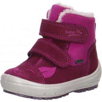 Ботинки Groovy (розовый)Обувь<br>Материал<br>Верх: Замша. Текстиль.<br>Подошва: полимерные материалы<br>Подкладка (внутренний материал): Зимний утеплитель, стелька: шерсть.<br>Описание<br>Легкие и мягкие зимние ботинки для детей с мембраной Gore-Tex. <br>Функциональные элементы: вшитый язычок, застежка на липучке, мягкая не скользящая подошва.<br>Коллекция Осень/Зима 2017<br>Производитель: Superfit (Австрия)<br>Страна производства: Индия<br>Температурный режим<br>От 0 до -20 градусов; Размеры в наличии: 22, 23, 24, 25, 26, 27, 28.<br>