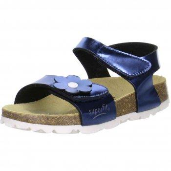 Сандалии (синий перламутр)Обувь<br>Описание: <br>Сандалии с анатомической стелькой. Глубокая внутренняя часть хорошо обхватывает ступню, а регулируемые ремешки плотно фиксируют ногу. Подошва из пробки делает сандалии невесомыми, а кожаная стелька обеспечивает максимальный комфорт.<br>Функциональные элементы:<br>Характеристики: <br>Верх :искусственная кожа.<br>Подкладка(внутренний материал): искусственный материал.<br>Стелька: натуральная кожа<br>Подошва: пробка<br>Производитель: Superfit (Австрия)<br>Страна производства: Индия <br>Модель производится в размерах: 24-41<br>Коллекция: Весна/Лето 2018.<br>Температурный режим: <br>От +20 градусов и выше<br>; Размеры в наличии: 24, 25, 26, 27, 28, 29, 30, 31, 32, 33, 34, 35.<br>