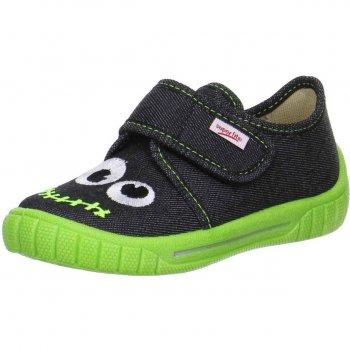 Тапочки текстильные (серый с зеленым)Обувь<br>Описание<br>Яркие текстильные тапочки. Легкая и удобная обувь, подходящая как для помещений, так и для улицы.<br>Функциональные элементы:<br>Характеристики: <br>Верх: текстиль<br>Подкладка(внутренний материал): текстиль<br>Стелька: текстиль<br>Подошва: полиуретан<br>Производитель: Superfit (Австрия)<br>Страна производства: Индия<br>Модель производится в размерах: 23-38<br>Коллекция: Весна/Лето 2018<br>Температурный режим<br>От +15 градусов и выше; Размеры в наличии: 24, 25, 26, 26, 27, 28, 29, 30, 31, 32, 33.<br>