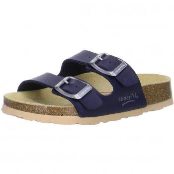 Шлепанцы (темно-синий)Обувь<br>Материал<br>Верх: техно<br>Подкладка(внутренний материал): искусственный материал<br>Стелька: натуральная кожа<br>Подошва: пробка<br>Описание<br>Сланцы с анатомической стелькой. Глубокая внутренняя часть хорошо обхватывает ступню, а регулируемые ремешки плотно фиксируют ногу. Подошва из пробки делает сланцы невесомыми, а кожаная стелька обеспечивает максимальный комфорт<br>Производитель: Superfit (Австрия)<br>Страна производства: Индия<br>Коллекция: Весна/Лето 2016<br>Температурный режим<br>От +20 градусов и выше<br>; Размеры в наличии: 27, 28, 29, 30, 31, 32, 33, 34, 35, 36, 37, 38, 39, 40, 41.<br>