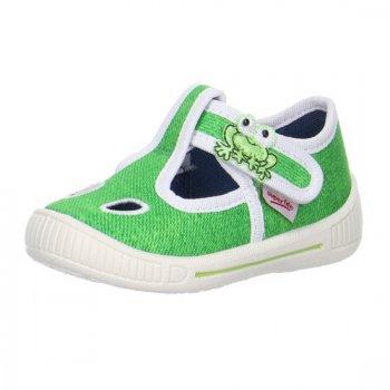 Сандалии текстильные (зеленый)Обувь<br>Яркие текстильные сандалии. Легкая и удобная обувь, подходящая как для помещений, так и для улицы. <br><br>   липучка, регулирующая полноту в подъеме ноги. <br> Верх: текстиль <br> Подкладка(внутренний материал): текстиль <br> Стелька: текстиль <br> Подошва: полиуретан <br> Производитель: Superfit (Австрия) <br> Страна производства: Индия <br> Модель производится в размерах: 18-26<br> Коллекция: Весна/Лето 2018<br><br> Температурный режим <br> От +15 градусов и выше ; Размеры в наличии: 21, 22, 23, 24, 25, 26.<br>