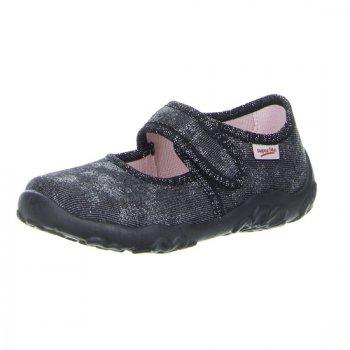 Сандалии текстильные (темно-серый)Обувь<br>Описание<br>Яркие текстильные тапочки. Легкая и удобная обувь, подходящая как для помещений, так и для улицы.<br>Функциональные элементы:<br>Характеристики: <br>Верх: текстиль<br>Подкладка(внутренний материал): текстиль<br>Стелька: текстиль<br>Подошва: полиуретан<br>Производитель: Superfit (Австрия)<br>Страна производства: Индия<br>Модель производится в размерах: 23-35<br>Коллекция: Весна/Лето 2018<br>Температурный режим<br>От +15 градусов и выше; Размеры в наличии: 28, 29, 30, 31, 32, 33, 34, 35, 36, 37, 38.<br>