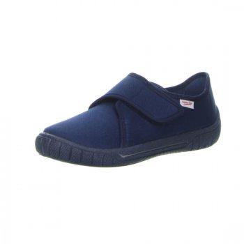 Тапочки текстильные (синий)Обувь<br>Текстильные тапочки для мальчиков. Легкая и удобная обувь подходящая как для помещений, так и для улицы. <br> Производитель: Superfit (Австрия) <br> Страна производства: Индия <br> Коллекция Весна/Лето 2017<br>  <br> Верх: текстиль <br> Подкладка(внутренний материал): текстиль <br> Стелька: текстиль <br> Подошва: полиуретан <br><br> Температурный режим <br> От +15 градусов и выше ; Размеры в наличии: 31, 32, 33, 34, 35, 36, 37, 38.<br>