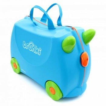 Чемодан на колесиках (голубой)Одежда<br>; Размеры в наличии: б/р.<br>