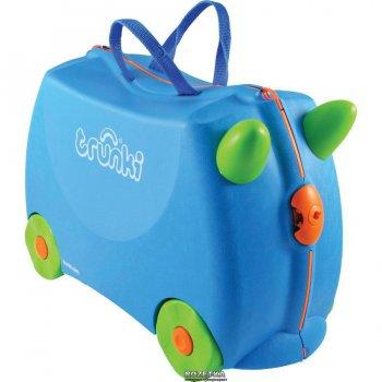 Trunki Чемодан на колесиках Terrance (голубой) чемодан trunki на колесиках тигр 0085 wl01 p1
