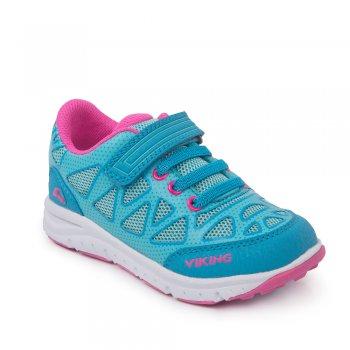 Кроссовки DOENNA Elastic (голубой с розовым)Обувь<br>Материал<br>Верх: 80% текстиль (100% полиэстер) / 20% экокожа (100% полиэстер)<br>Подошва: 80% EVA / 20% натуральная резина<br>Подкладка (внутренний материал): Текстиль (100% полиэстер)<br>Описание<br>Стильные, удобные, практичные кроссовки от норвежской марки Viking. Модель имеет гибкую подошву, правильно распределяющую нагрузку по всей стопе. Верх выполнен из воздухопроницаемого текстиля, что обеспечит комфорт в течение всего дня. Отличный вариант как для занятия спортом, так и для городских прогулок. Благодаря застежке на липучке Ваш ребенок сможет без труда надеть кроссовки самостоятельно. <br>Производитель: Viking (Норвегия) <br>Страна производства: Вьетнам<br>Температурный режим<br>от +10 градусов; Размеры в наличии: 20, 21, 22, 23, 24, 25, 26, 27, 28, 29, 30, 31, 32, 33, 34, 35.<br>