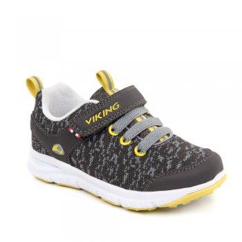 Кроссовки Veli (серый)Обувь<br>Модель Veli представлена в одной расцветке, которая подойдет и для мальчиков и для девочек. Очень легкие и стильные кроссовки с модным вязаным дизайном. Они отлично подойдут как для весны, так и для лета!   Верх: текстиль (100% полиэстер) <br> Подкладка (внутренний материал): текстиль (100% полиэстер)<br> Подошва: натуральная резина / EVA<br> Производитель: Viking (Норвегия)<br> Страна производства: Вьетнам<br> Модель производится в размерах: 25-35<br> Коллекция: Весна/Лето 2018.<br><br> Температурный режим <br> От +7 градусов и выше; Размеры в наличии: 25, 26, 27, 28, 29, 30, 31, 32, 33, 34, 35.<br>