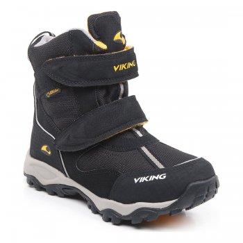 Ботинки BLUSTER II GTX (черный с оранжевым)Обувь<br>Материал<br>Верх: 90% текстиль (100% полиэстер) 10% экокожа.<br>Внутренняя отделка: мембранная подкладка GORE-TEX (100% полиэстер).<br>Подошва: натуральная резина.<br>Описание<br>Производитель: Viking (Норвегия)<br>Страна производства: Вьетнам<br>Модель производится в размерах: 31-41.<br>Обувь Viking можно стирать в стиральной машине при температуре 30 градусов<br>Коллекция Осень/Зима 2016-2017<br>Температурный режим<br>От 0 до -30 градусов.; Размеры в наличии: 31, 32, 33, 34, 35, 36, 37, 38, 39, 40, 41.<br>