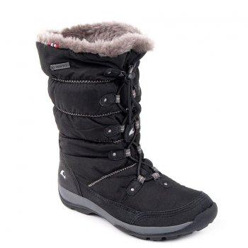 Сапоги JADE GTX (черный)Обувь<br>Производитель: Viking (Норвегия)<br> Страна производства: Вьетнам<br> Модель производится в размерах: 28-41<br> Обувь Viking можно стирать в стиральной машине при температуре 30 градусов<br> Коллекция Осень/Зима 2017<br>  <br> Верх: 90% текстиль (100% полиэстер) 10% экокожа<br> Внутренняя отделка: мембранная подкладка GORE-TEX (100% полиэстер)<br> Подошва: натуральная резина<br><br> Температурный режим <br> От 0 до -30 градусов; Размеры в наличии: 34, 35, 36, 37, 38, 39.<br>