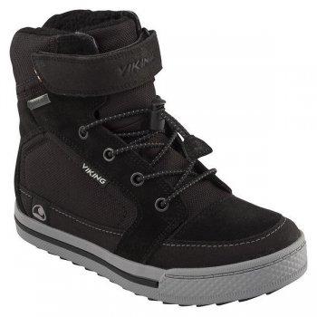 Ботинки ZING GTX (черный)Обувь<br>Материал<br>Верх: 60% замша, 40% текстиль<br>Внутренняя отделка: мембранная подкладка GORE-TEX (100% полиэстер)<br>Подошва: натуральная резина<br>Описание<br>Производитель: Viking (Норвегия)<br>Страна производства: Вьетнам<br>Модель производится в размерах: 28-41<br>Обувь Viking можно стирать в стиральной машине при температуре 30 градусов<br>Коллекция Осень/Зима 2017<br>Температурный режим<br>От 0 до -30 градусов; Размеры в наличии: 33, 34, 35, 36, 37, 38, 39, 40, 41.<br>