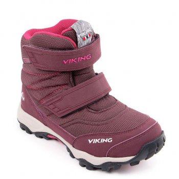 Ботинки  BIFROST III GTX (фиолетовый)Обувь<br>Производитель: Viking (Норвегия)<br> Страна производства: Вьетнам<br> Модель производится в размерах: 28-41<br> Обувь Viking можно стирать в стиральной машине при температуре 30 градусов<br> Коллекция Осень/Зима 2017<br>  <br> Верх: 90% текстиль (100% полиэстер) 10% экокожа<br> Внутренняя отделка: мембранная подкладка GORE-TEX (100% полиэстер)<br> Подошва: натуральная резина<br><br> Температурный режим <br> От 0 до -30 градусов; Размеры в наличии: 31, 32, 33, 34, 35, 36, 37, 38, 39, 40, 41.<br>