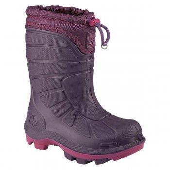 Сапоги EXTREME (фиолетовый)Обувь<br>Материал<br>Верх: полиуретан Elastopan<br>Внутренняя отделка: мех (70% полиэстер, 30% шерсть)<br>Подошва: термостойкая резина<br>Описание<br>Производитель: Viking (Норвегия)<br>Страна производства: Вьетнам<br>Модель производится в размерах: 21-39<br>Коллекция Осень/Зима 2017<br>Температурный режим<br>От 0 до -30 градусов<br>; Размеры в наличии: 22, 23, 24, 25, 26, 27, 28, 29, 30, 31, 32, 33, 34, 35, 36, 37, 38, 39.<br>