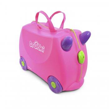 Trunki Чемодан на колесиках Trixie (розовый) чемодан на колесиках тигр trunki