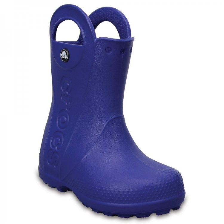 Сапоги Handle It Rain Boot (ярко-синий)Одежда<br>Материал<br>Croslite (крослайт) - Полимер<br>Описание <br>Яркие сабо из уникального, запатентованного материала Croslite. Материал является бактериостатичным, то есть препятствующим росту и размножению бактерий, вызывающих запах. Преимущества оригинальных сабо Сrocs: очень легкие и мягкие, долговечные, устойчивая нескользящая подошва, великолепное качество, простой уход. <br>Производитель: Crocs (США)<br>Страны производства: Китай, Италия, Вьетнам, США, Словения, Нидерланды<br>Коллекция: Весна/Лето 2017<br>Модель производится в размерах: С4(21), С5(22), С6(23), С7(24), С8(25), С9(26), С10(27), С11 (28), С12 (29-30), С13 (30-31), J1 (32-33), J2 (33-34), J3 (34-35)<br>Уход<br>Сабо Crocs легко моются теплой водой. При необходимости их можно стирать в стиральной машине при температуре 30 градусов; Размеры в наличии: J2, C6, C12, J1, C8, J3, C9, C10, C13, C11, C7.<br>