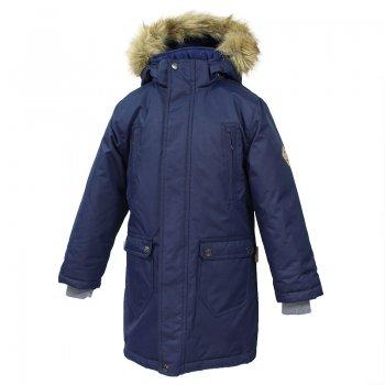 Куртка Vesper (синий)Куртки<br>Описание: <br>Зимняя куртка-парка для мальчиков подростков. Теплая и практичная, благодаря современному утеплителю рассчитана на широкий температурный диапазон использования. Особо прочная верхняя мембранная ткань устойчива к истиранию и легко выдержит даже самую активную эксплуатацию. Она не пропускает снег и дождь и отлично «дышит», сохраняя комфортную температуру тела во время двигательной активности.  Внутренние трикотажные манжеты защищают руки от холода и ветра. Капюшон дополнен меховой опушкой. При желании можно отстегнуть капюшон или опушку отдельно. Утяжка по низу куртки обеспечивает лучшую теплоизоляцию в мороз и сильный ветер. Универсальный лаконичный дизайн для школы, города или прогулок на природе. Светоотражающие элементы делают вашего ребенка более заметным в темное время суток и при любых погодных условиях.<br>Функциональные элементы: капюшон отстегивается, искусственный мех на капюшоне отстегивается, трикотажные манжеты, нагрудные карманы на молнии, двусторонняя молния, светоотражатели, утяжка по подолу.<br>Характеристики: <br>Верх: 100% полиэстер.<br>Утеплитель: 300 грамм (100% полиэстер).<br>Подкладка: 100% полиэстер<br>Водонепроницаемость: 10000 мм.<br>Паропроводимость: 10000 г/м2/24ч.<br>Износостойкость: нет данных.<br>Производитель: HUPPA (Эстония).<br>Страна производства: Эстония.<br>Коллекция: Осень-Зима 2017.<br>Температурный режим: <br>от -5  до -30 градусов.<br>; Размеры в наличии: 140, 146, 152, 158, 164, 170.<br>