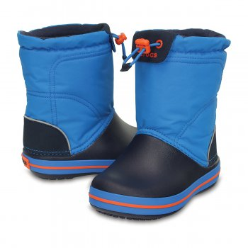 Crocs, Сапоги Crocband LodgePoint Boot K (голубой)