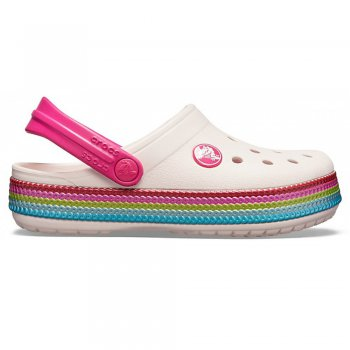 Crocs  Сабо Crocband Sequin Band Clog (розовые)