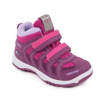 Кроссовки CASCADE II MID GTX (фиолетовый)Обувь<br>Материал<br>Верх: 70% текстиль ( 100% полиэстр) / 30% экокожа ( 100% полиэстр)<br>Подошва: 80% EVA / 20% натуральная резина<br>Подкладка (внутренний материал): текстиль с мембраной Goretex<br>Описание<br>Стильные, удобные, практичные кроссовки от норвежской марки Viking с мембраной GORE-TEX. Модель имеет гибкую подошву, правильно распределяющую нагрузку по всей стопе. Кроссовки отлично подходят как для занятия спортом, так и для городских прогулок. Удобная застежка на липучке.<br>Производитель: Viking (Норвегия) <br>Страна производства: Вьетнам<br>Температурный режим<br>от +10 градусов<br>; Размеры в наличии: 27, 28, 29, 30, 31, 32, 33, 34, 35.<br>
