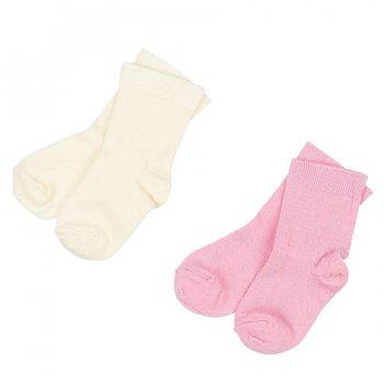 Носки для малышей 2 пары (розовый)Одежда<br>Материал<br>60% шерсть мериносов, 38% полиамид, 2% эластан<br>Описание<br>Шерсть мериносов содержит ланолин (животный воск), который обладает антибактериальными действиями и является природным антисептиком. Шерсть мериносов не вызывает аллергию, хорошо поглощает и отводит влагу от тела, эффективно согревает и оказывает положительное влияние на организм.<br>При выборе размера обратите внимание, что не рекомендуется брать термобелье с большим запасом. Носки хорошо тянутся и полностью соответствуют указанным размерам<br>Обратите внимание: нижнее белье, колготки и носки обмену и возврату не подлежат в соответствии в законом РФ О защите прав потребителей.<br>Производитель: Janus (Норвегия)<br>Страна производства: Норвегия<br>Модель производится в размерах 16/19, 20/24.<br>Коллекция: Осень/Зима 2016.<br>Температурный режим: <br>От +5 до -30; Размеры в наличии: 16/19, 20/24.<br>