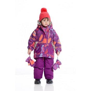 Комплект (фиолетовый с рукавицами) от Deux par Deux, арт: 41776 - Одежда