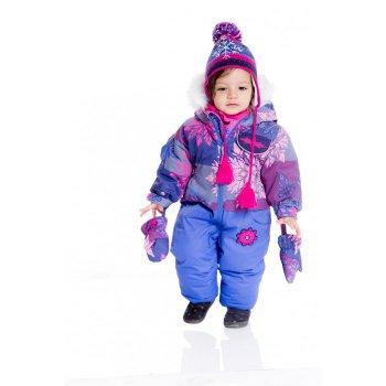 Комбинезон (фиолетовый со снежинками)Комбинезоны<br>; Размеры в наличии: 6M, 12M.<br>