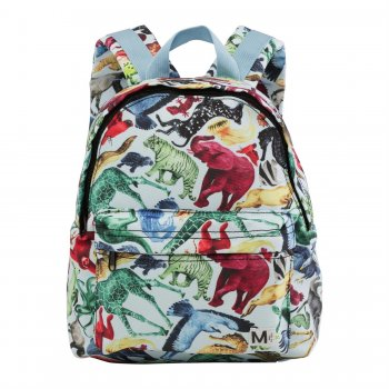 Molo Рюкзак Backpack Colourful Animals (белый с динозаврами)